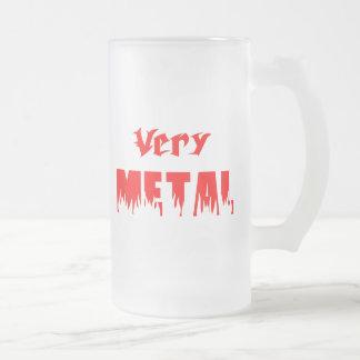 Mismo metal rojo taza de café