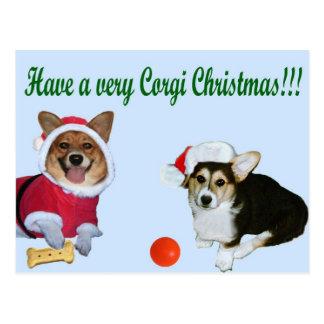 Mismo navidad M del Corgi y postal del azul de G