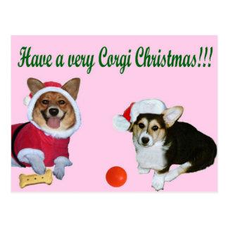 Mismo navidad M del Corgi y postal rosada de G