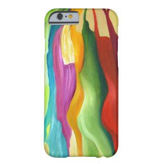 Mismo pintura abstracta del colorfull funda de iPhone 6 barely there