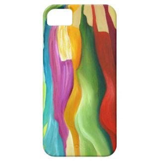 Mismo pintura abstracta del colorfull iPhone 5 cobertura