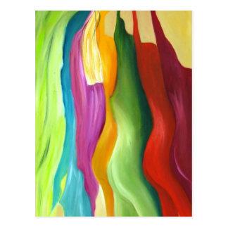 Mismo pintura abstracta del colorfull tarjetas postales
