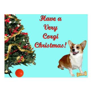 Mismo turquesa Postcar del Navidad-SmilingDott del Postal