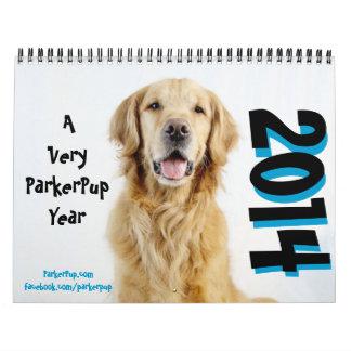 Mismo un año de ParkerPup - calendario 2014