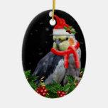 Mismo un ornamento del navidad de la baya adorno navideño ovalado de cerámica