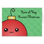 Mismo una tarjeta de Navidad de Kawaii