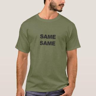Mismos iguales, pero diversa camisa de Tailandia