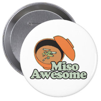 Miso Awesome Pinback Buttons