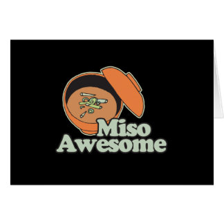 Miso Awesome Greeting Card