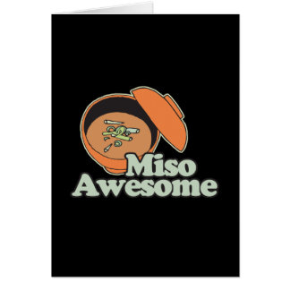Miso Awesome Greeting Cards