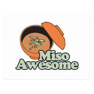 Miso Awesome Postcard