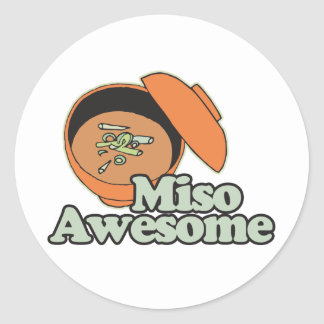 Miso Awesome Round Stickers