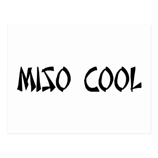 Miso Cool Item Postcard