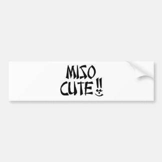 Miso Cute Item Bumper Sticker