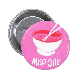 Miso Cute Pinback Button