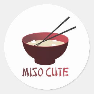 Miso Cute Round Sticker