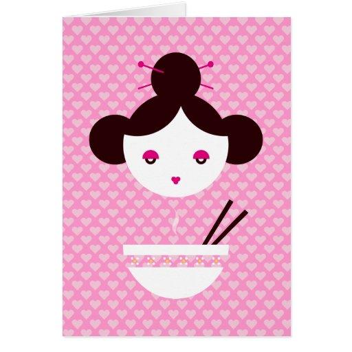Miso girl greeting card