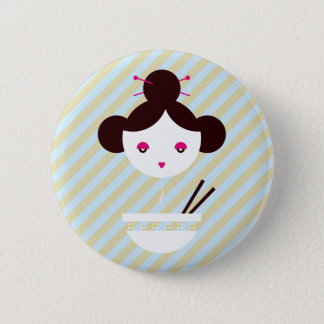 Miso girl pinback button
