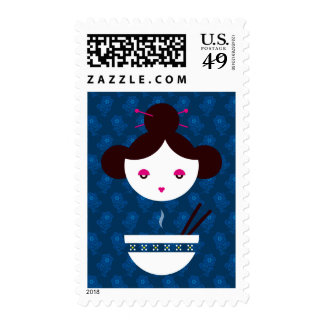 Miso girl stamps