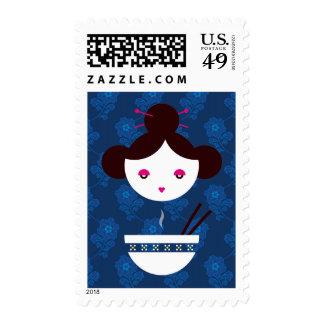 Miso girl stamp