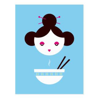 Miso girl postcard