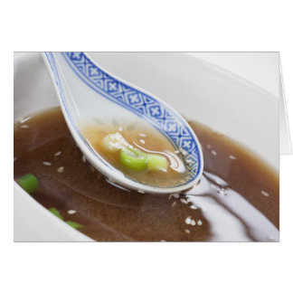 Miso Soup Greeting Card