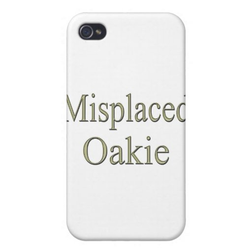 Misplaced Oakie y iPhone 4 Covers
