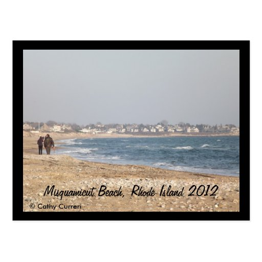 Misquamicut Beach, Rhode Island After Hurricane Postcards