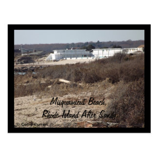Misquamicut Beach, Rhode Island After Sandy Postcard