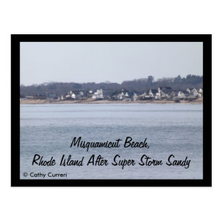 Misquamicut Beach, Rhode Island After Sandy Postcard