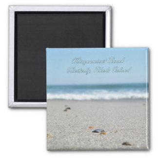 Misquamicut Beach Rhode Island 2 Inch Square Magnet