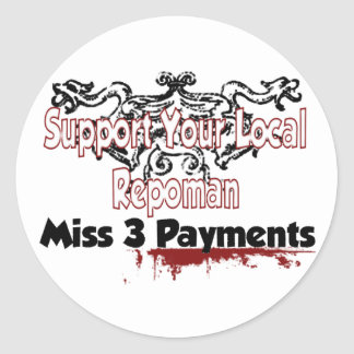 Miss 3 Payments Classic Round Sticker
