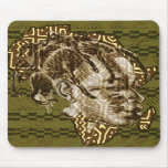 Miss Africa Afrique Ethnic map of Africa Art Mousepads