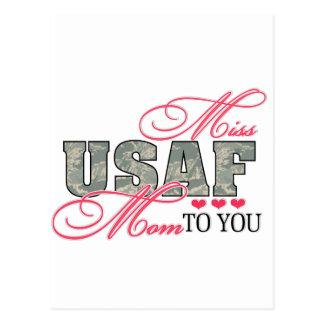 Miss Air Force Mom Postcard