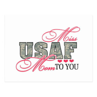Miss Air Force Mom Postcard