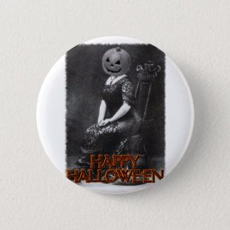 Miss Alicia Pumpkinhead Pinback Button