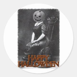 Miss Alicia Pumpkinhead Round Sticker