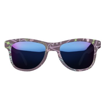 Beach Themed Miss America Artful 2 Print Sunglasses