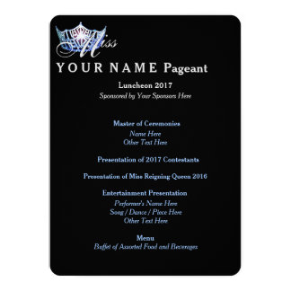 Miss America Blue Crown Luncheon Program Card