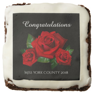 Miss America Congratulations Custom Brownies