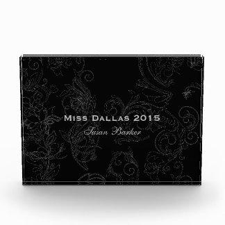 Miss America Flourish Rectangle Acrylic Award