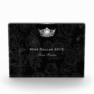 Miss America Flourish Silver Crown Acrylic Award