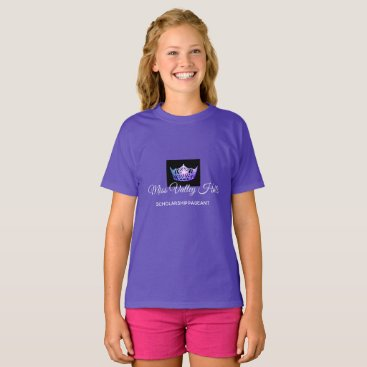 Hawaiian Themed Miss America Girls Purple Crown Custom Name Top