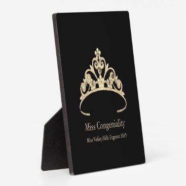 USA Themed Miss America Gold Crown Awards Plaque