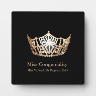 Miss America Gold Crown Awards Plaque
