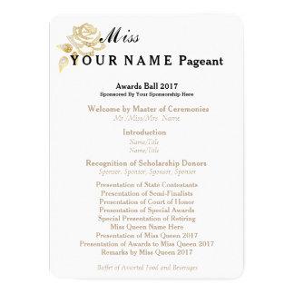 Miss America Gold Rose Awards Ball Program Card