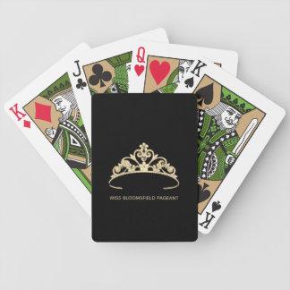 Miss America Gold Tiara Custom Playing Cards