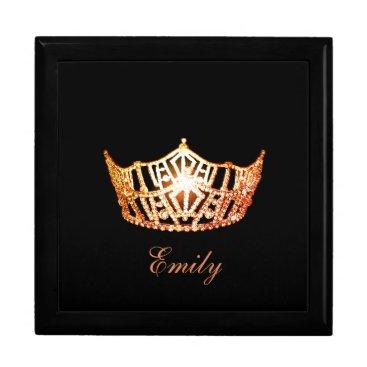 Hawaiian Themed Miss America ORNGE Crown Personal Name Jewerly Box