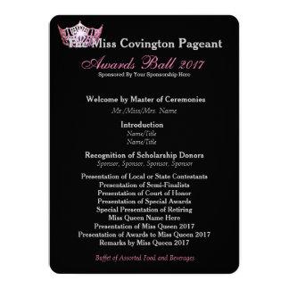 Miss America Pink Crown Awards Ball Program Card