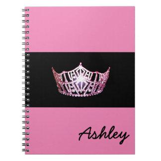 Miss America Pink Crown Notebook Custom Name
